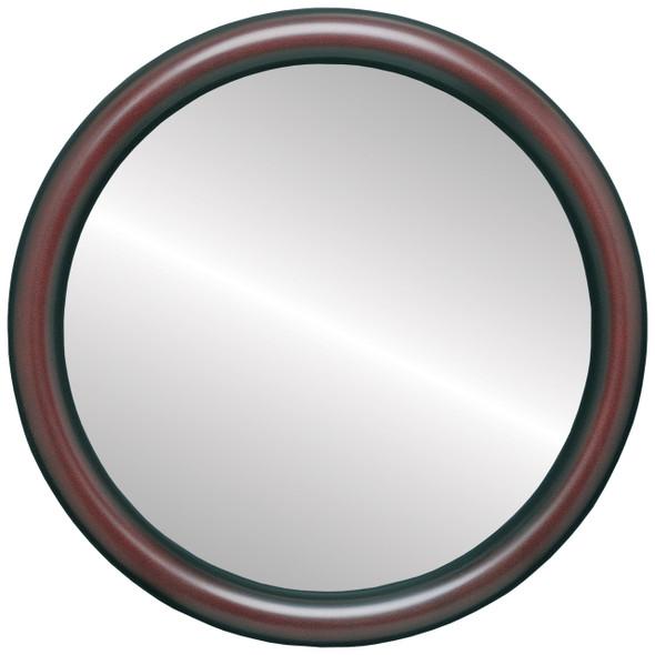Flat Mirror - Pasadena Circle Frame - Rosewood