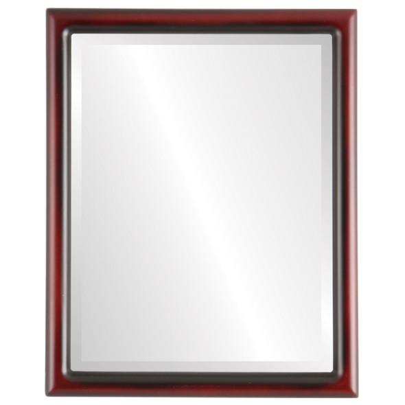 Bevelled Mirror - Pasadena Rectangle Frame - Rosewood