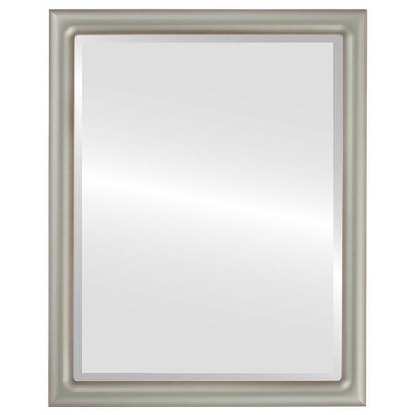Bevelled Mirror - Pasadena Rectangle Frame - Silver Shade