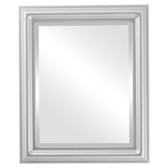Beveled Mirror - Philadelphia Rectangle Frame - Silver Spray