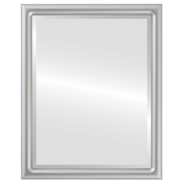 Bevelled Mirror - Pasadena Rectangle Frame - Silver Spray
