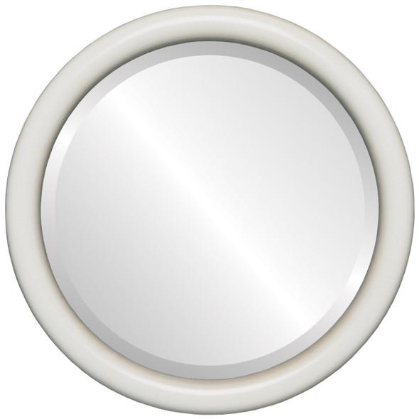 Bevelled Mirror - Pasadena Round Frame - Taupe