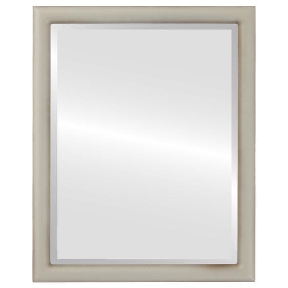Bevelled Mirror - Pasadena Rectangle Frame - Taupe