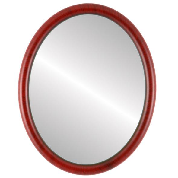 Flat Mirror - Pasadena Oval Frame - Vintage Cherry