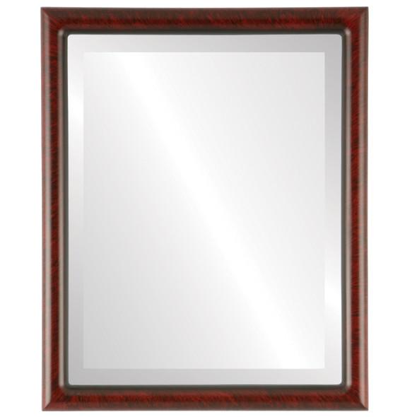 Bevelled Mirror - Pasadena Rectangle Frame - Vintage Cherry