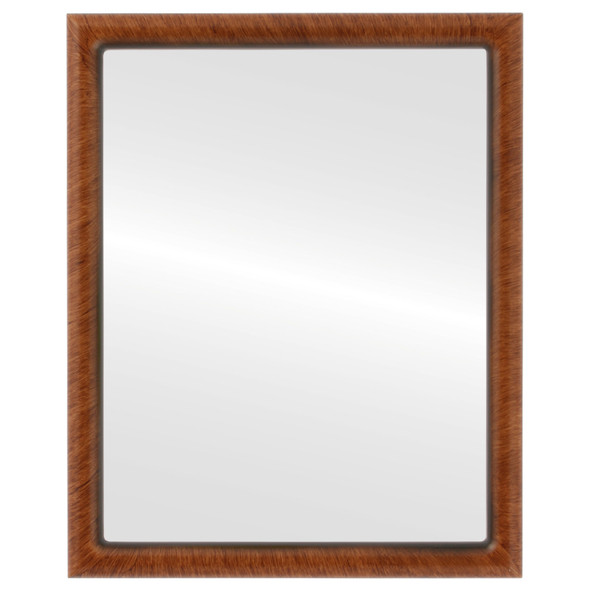 Beveled Mirror - Pasadena Rectangle Frame - Vintage Walnut