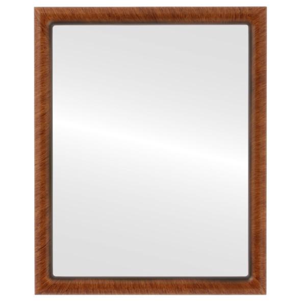 Flat Mirror - Pasadena Rectangle Frame - Vintage Walnut