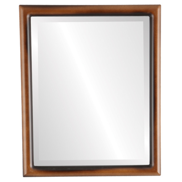 Bevelled Mirror - Pasadena Rectangle Frame - Walnut