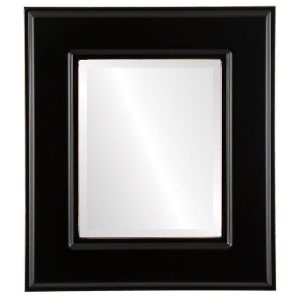 Beveled Mirror - Marquis Rectangle Frame - Rubbed Black
