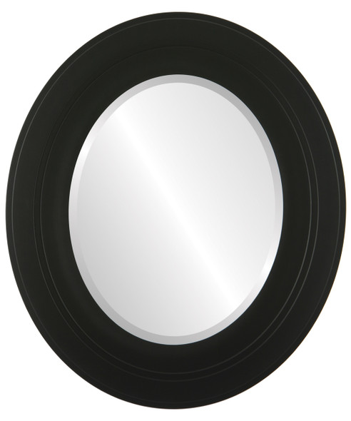 Beveled Mirror - Palomar Oval Frame - Matte Black