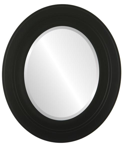 Beveled Mirror - Palomar Oval Frame - Matte Black