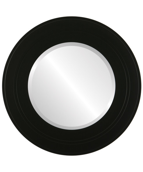 Beveled Mirror - Palomar Round Frame - Matte Black