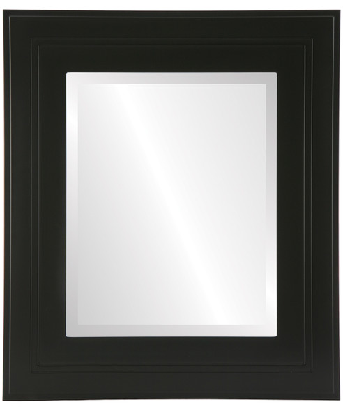 Beveled Mirror - Palomar Rectangle Frame - Matte Black