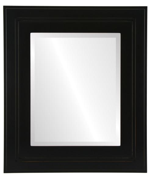Beveled Mirror - Palomar Rectangle Frame - Rubbed Black