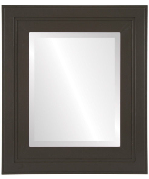 Beveled Mirror - Palomar Rectangle Frame - Stone Brown