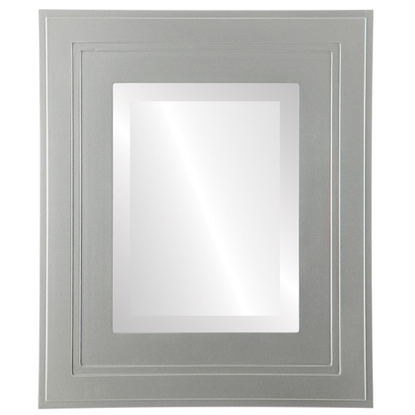 Beveled Mirror - Palomar Rectangle Frame - Bright Silver