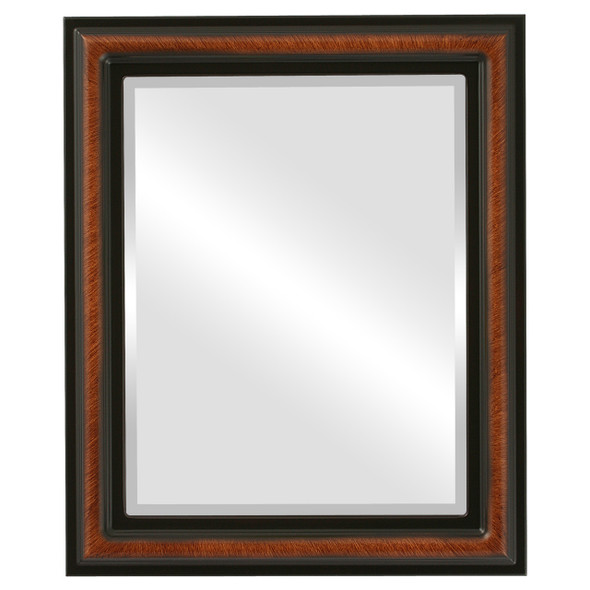 Beveled Mirror - Philadelphia Rectangle Frame - Vintage Walnut