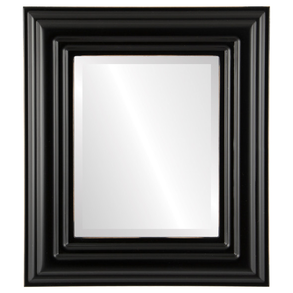 Beveled Mirror - Regalia Rectangle Frame - Rubbed Black