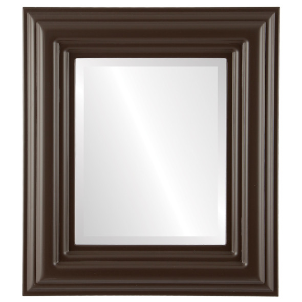 Beveled Mirror - Regalia Rectangle Frame - Stone Brown