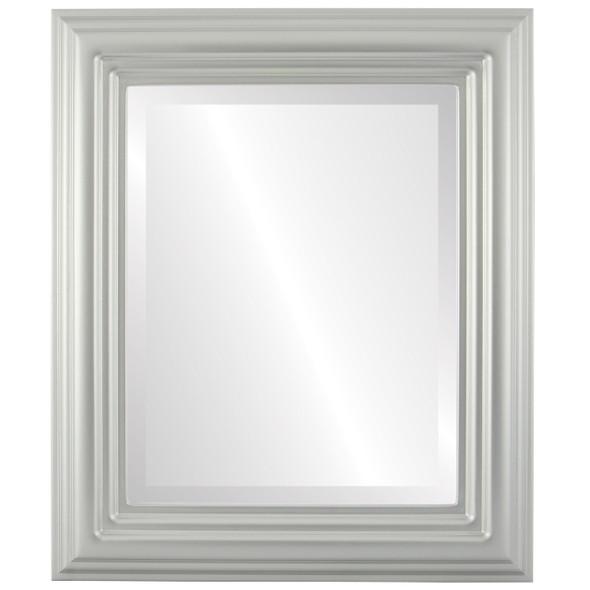 Beveled Mirror - Regalia Rectangle Frame - Bright Silver