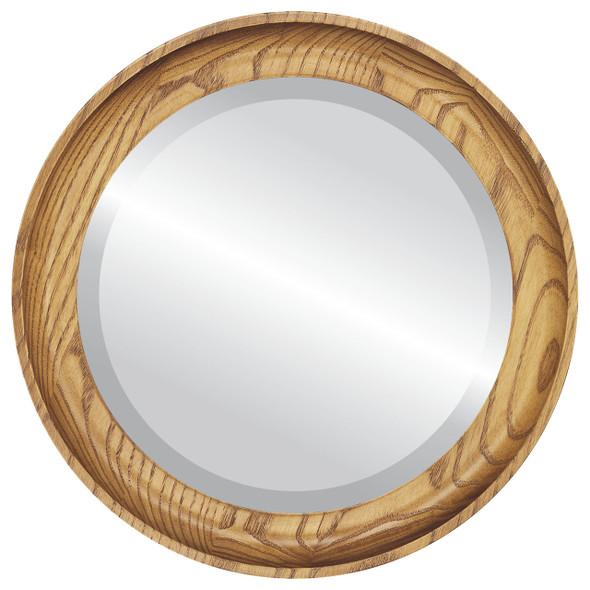 Beveled Mirror - Vancouver Round Frame - Carmel