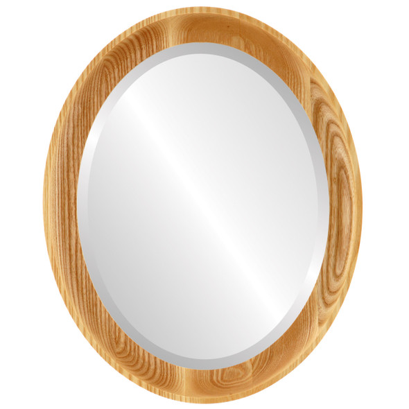 Beveled Mirror - Vancouver Oval Frame - Honey Oak