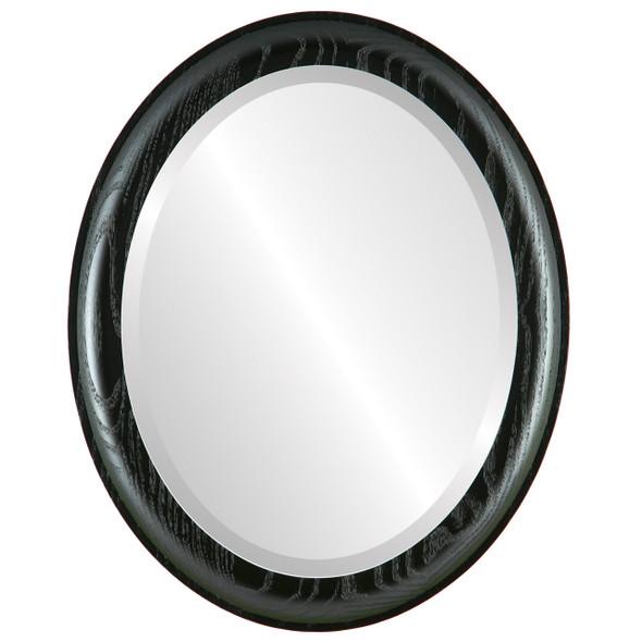 Beveled Mirror - Vancouver Oval Frame - Matte Black