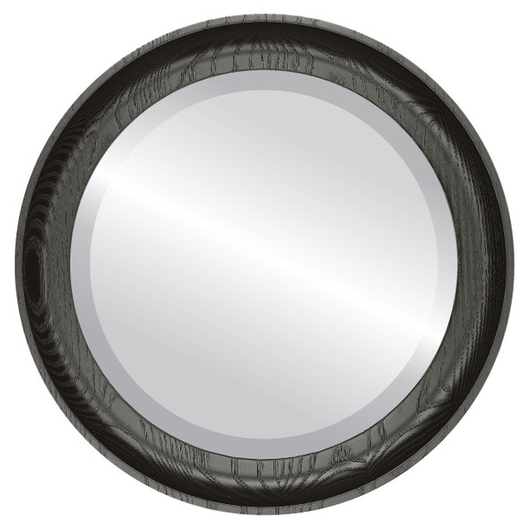 Beveled Mirror - Vancouver Round Frame - Matte Black
