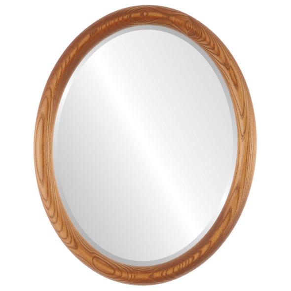 Beveled Mirror - Sydney Oval Frame - Carmel