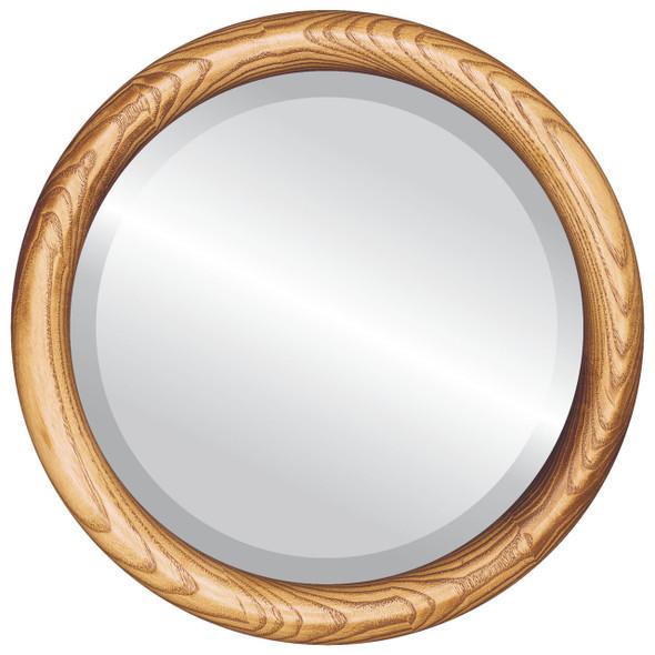 Beveled Mirror - Sydney Round Frame - Carmel