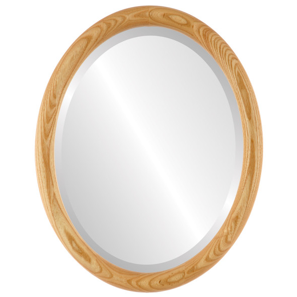 Beveled Mirror - Sydney Oval Frame - Honey Oak