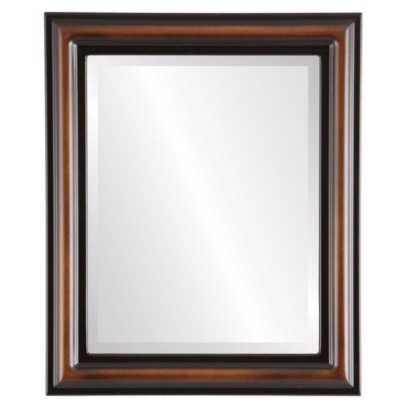 Beveled Mirror - Philadelphia Rectangle Frame - Walnut