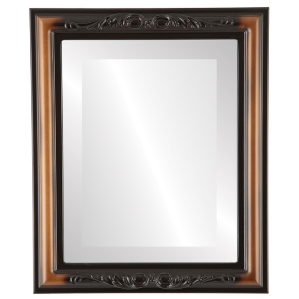 Beveled Mirror - Florence Rectangle Frame - Walnut