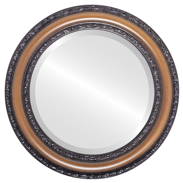 Beveled Mirror - Dorset Round Frame - Walnut