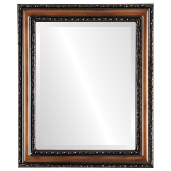 Beveled Mirror - Dorset Rectangle Frame - Walnut