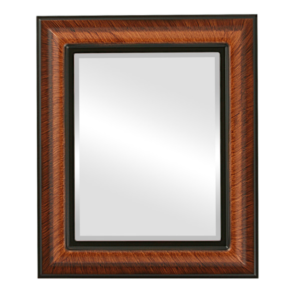 Beveled Mirror - Lancaster Rectangle Frame - Vintage Walnut
