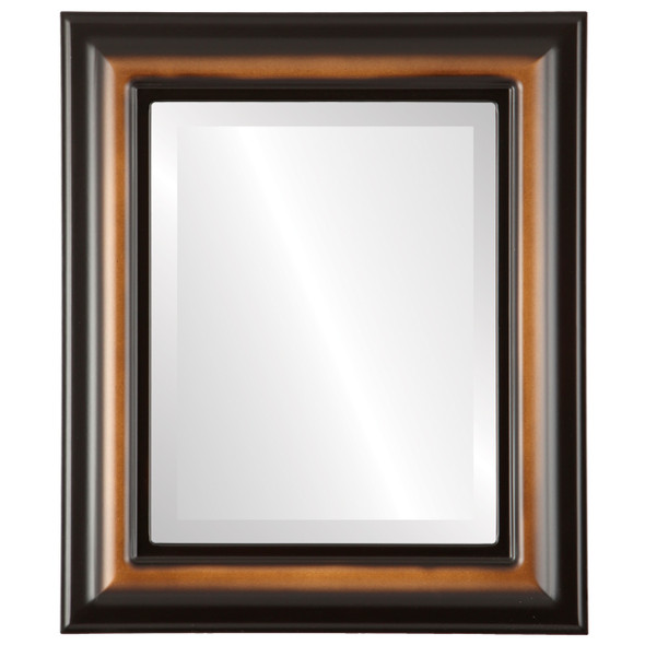 Beveled Mirror - Lancaster Rectangle Frame - Walnut