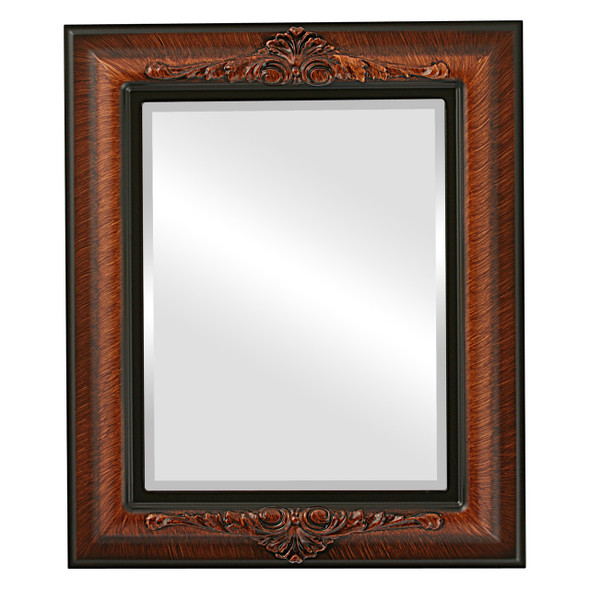 Beveled Mirror - Winchester Rectangle Frame - Vintage Walnut