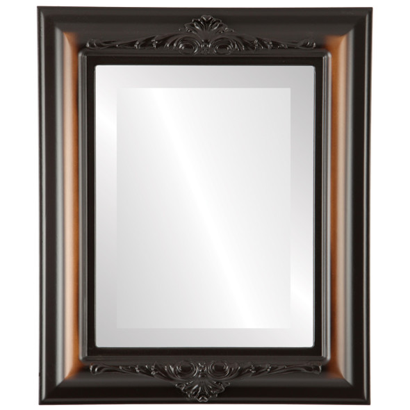 Beveled Mirror - Winchester Rectangle Frame - Walnut