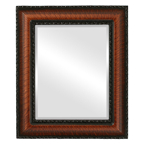 Beveled Mirror - Somerset Rectangle Frame - Vintage Walnut