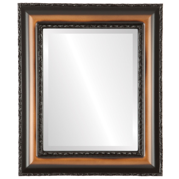 Beveled Mirror - Somerset Rectangle Frame - Walnut