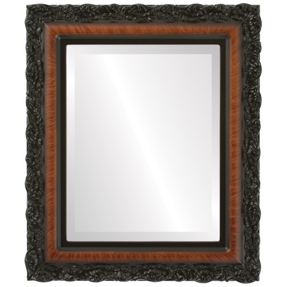 Beveled Mirror - Venice Rectangle Frame - Vintage Walnut