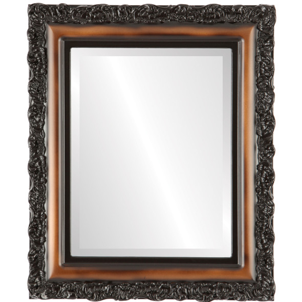 Beveled Mirror - Venice Rectangle Frame - Walnut