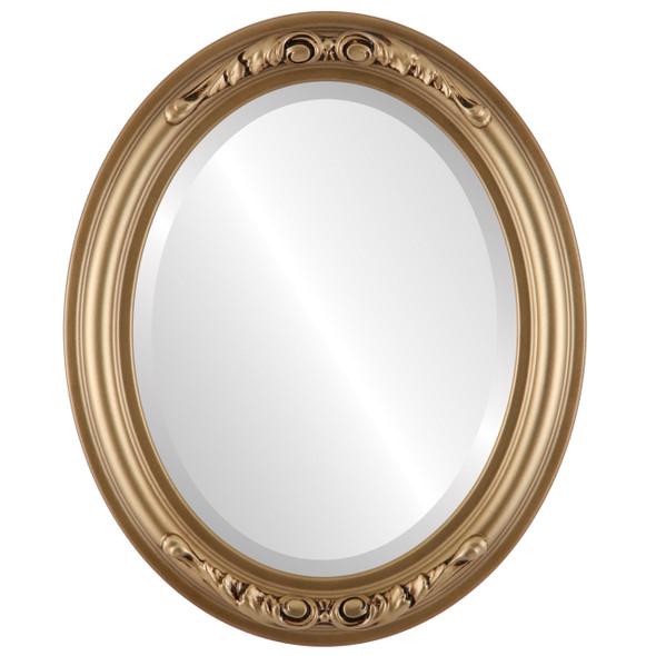 Beveled Mirror - Florence Oval Frame - Desert Gold