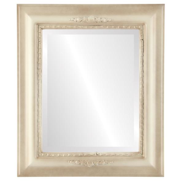 Beveled Mirror - Boston Rectangle Frame - Taupe