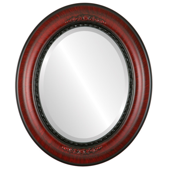 Beveled Mirror - Boston Oval Frame - Vintage Cherry