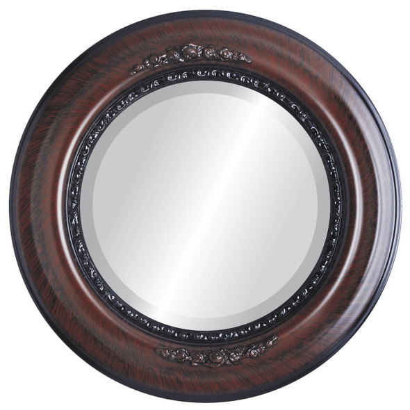Beveled Mirror - Boston Round Frame - Vintage Cherry