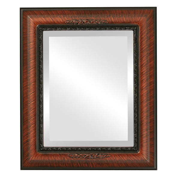 Beveled Mirror - Boston Rectangle Frame - Vintage Walnut