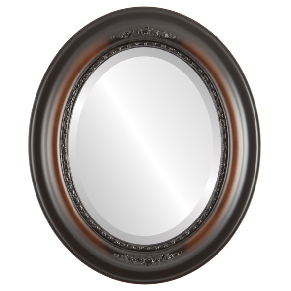 Beveled Mirror - Boston Oval Frame - Walnut