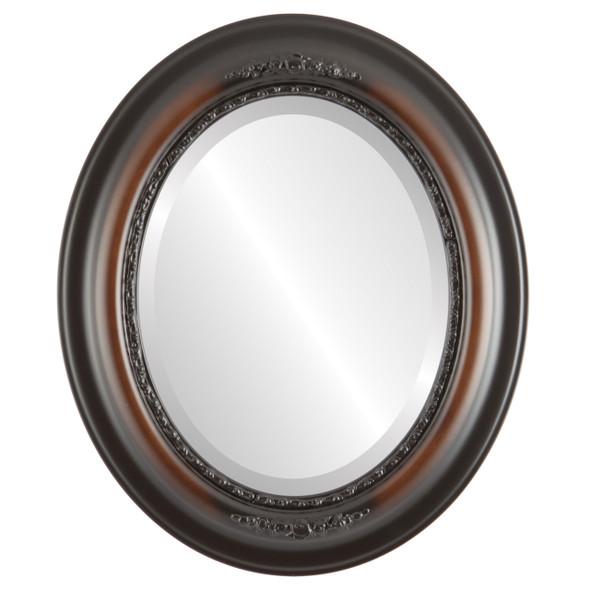Beveled Mirror - Boston Oval Frame - Walnut